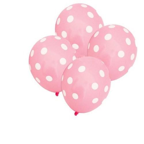 Pandoli Bebek Pembesi Beyaz Puanlı 25 Adet Baskılı Latex Balon