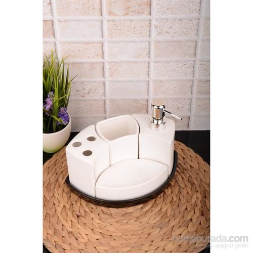 Paşahome Porselen 5 Parça Banyo Seti