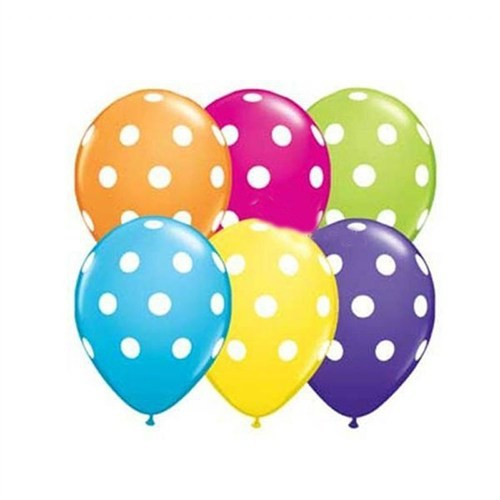 Pandoli Karışık Renkli Puanlı 25 Adet Baskılı Latex Balon