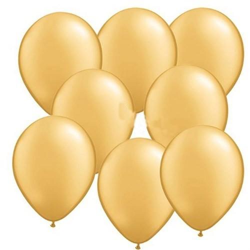 Pandoli Altın Metalik Düz Renk Sedefli Latex Balon 100 Adet