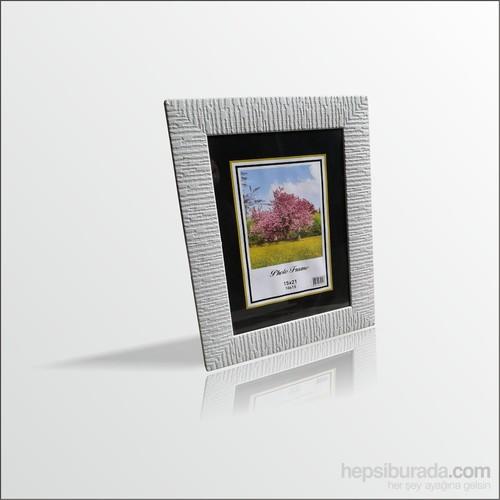 15x21 cm Beyaz Cam Muhafazalı Çerçeve