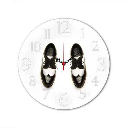 Ayakkabı Mdf Saat Yuvarlak