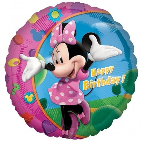 Parti Şöleni Minnie Mouse Happy Birtday 18 İnc Folyo Balon 1 Adet