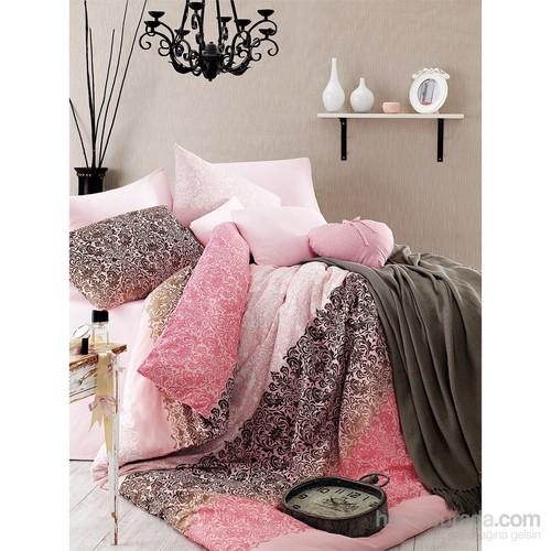 En Vogue Damask Pink Çift Kişilik Nevresim Takımı