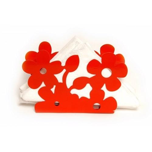 Atadan Çiçek Ferforje Peçetelik-Kırmızı