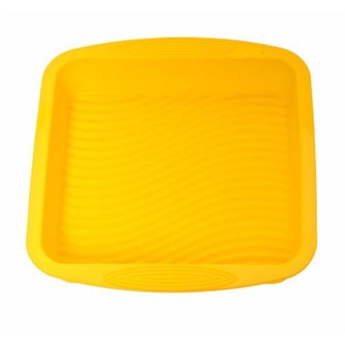 Atadan Kare Büyük Silikon Kek Kalıbı-Sarı