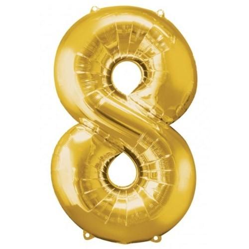 Parti Paketi 8 Sayısı Altın Supershape Folyo Balon
