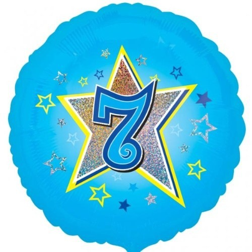 Parti Paketi 7 Yıldızlı Mavi Folyo Balon