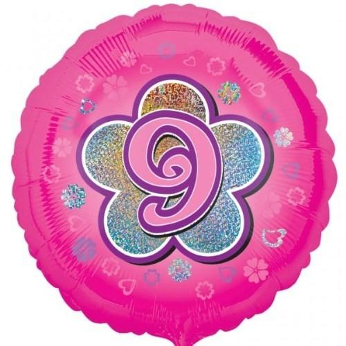Parti Paketi 9 Yıldızlı PembeFolyo Balon