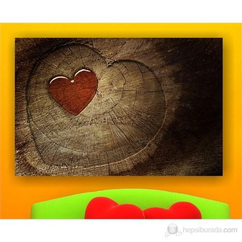 Kırmızı Kalp Kanvas Tablo