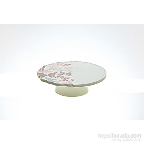 Lucky Art Kelebekli Kabartma Ayaklı Pasta 26 Cm