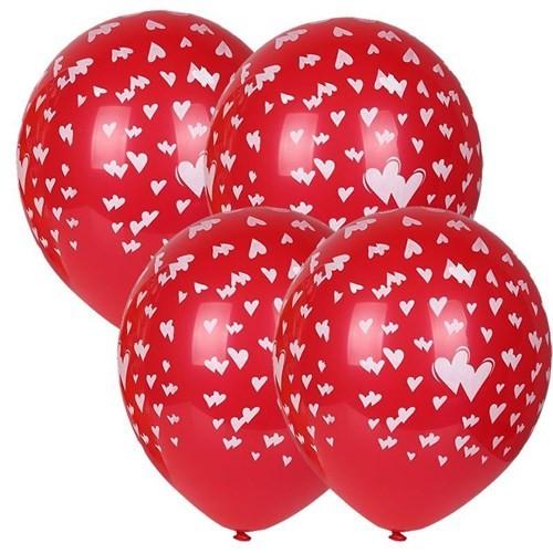 Pandoli 25 Adet Kalpler Baskılı Çepeçevre Latex Balon