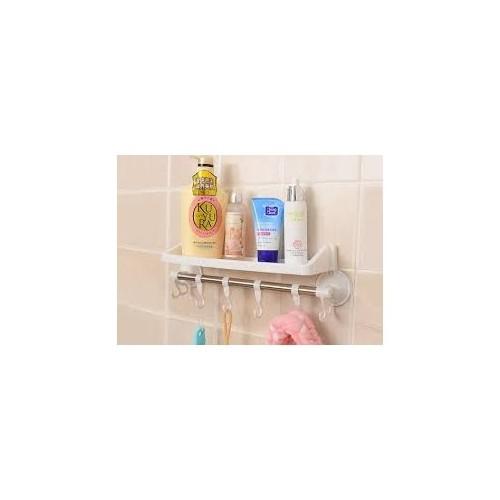 LoveQ Raflı Ve Kancalı Vantuzlu Banyo Askısı