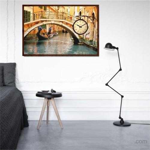 Venedik Köprüsü - Çerçeveli Kanvas Saat
