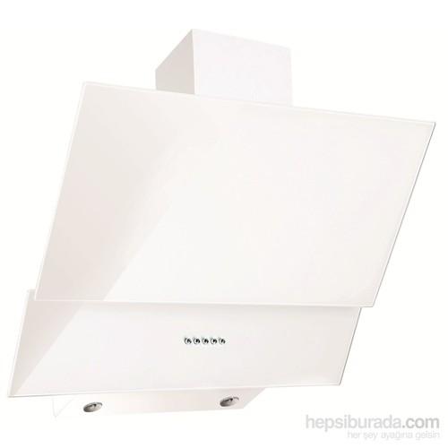 Ferre FME 600 Beyaz Yatay Cam Davlumbaz