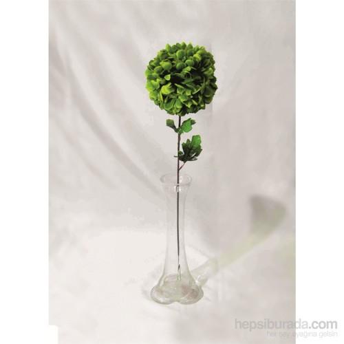 Yeşil Ortanca Kırılmaz 40 cm Cam Vazo