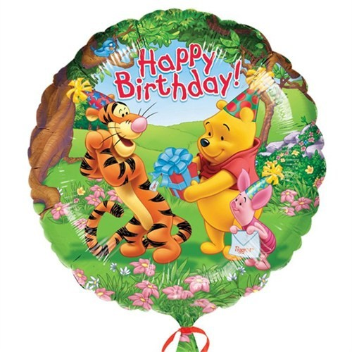 Pandoli 45 Cm Folyo Balon Winnie The Pooh Happy Birthday