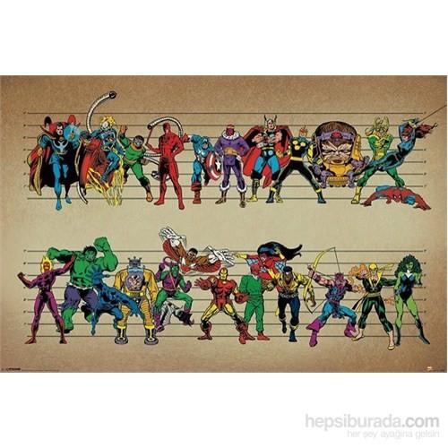 Maxi Poster Marvel Comics (Line Up)