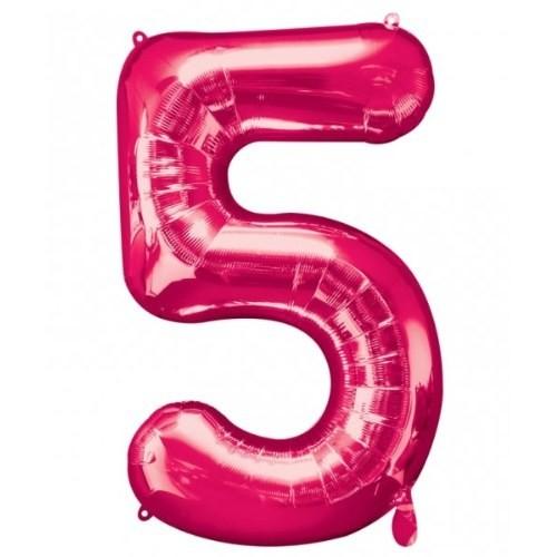 Parti Paketi 5 Sayısı Pembe Supershape Folyo Balon