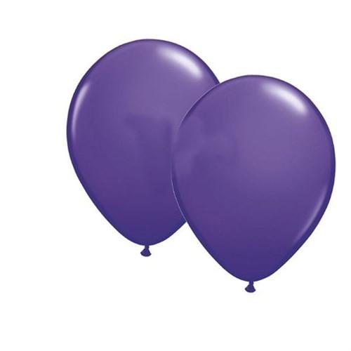 Pandoli 10 Adet Lila Metalik Düz Renk Sedefli Latex Balon