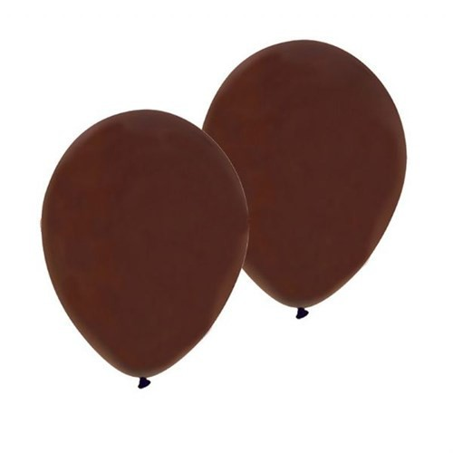 Pandoli Kahverengi Metalik Düz Renk Sedefli Latex Balon 10 Adet