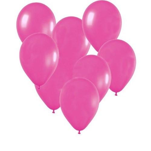 Pandoli Fuşya Pembe Metalik Düz Renk Sedefli Latex Balon 100 Adet