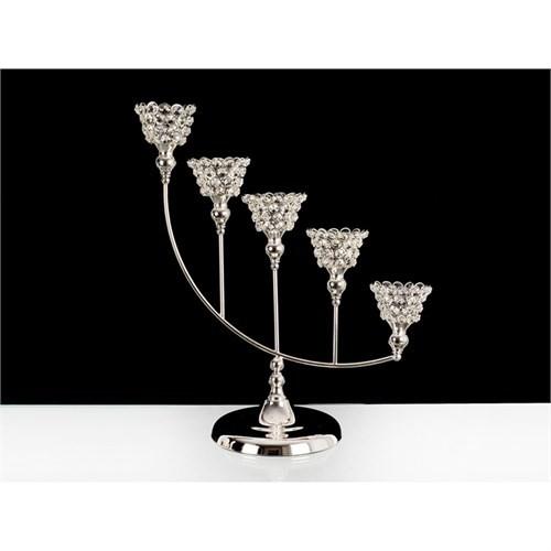 Lucky Art Gümüş Kristalli 5'Li Tilaytlık - 55 Cm