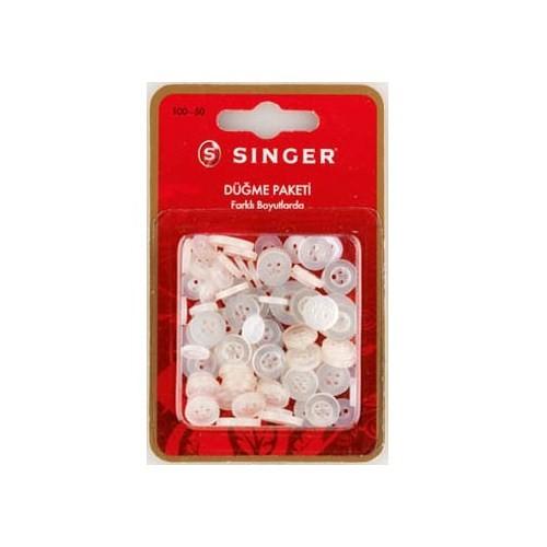 Singer 100-50 Farklı Boyutlarda Düğme Paketi