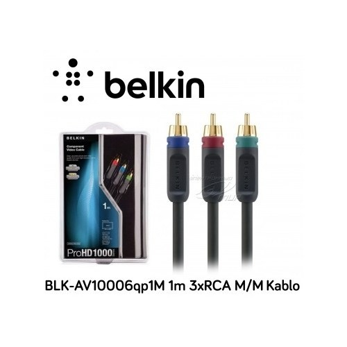 Belkin Blk-Av10006qp1m 1M 3Xrca M/M Siyah Kablo