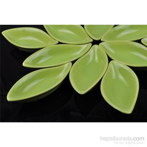 Keramika Çerezlik Sosluk Yaprak 12 Cm Yeşil 302