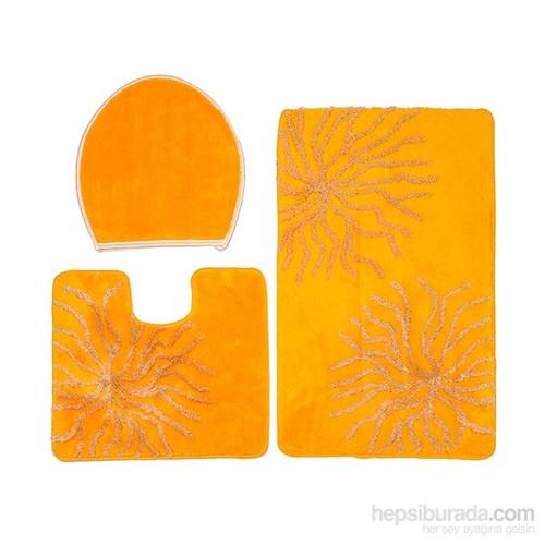 Confetti Myra Üçlü Set Yumurta Sarısı Banyo Halısı