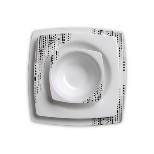 Korkmaz A8407 Bone Selectıon 86 Parça Yemek Takımı (Kare)