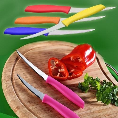 BlueZen Çok Amaçlı Rengarenk Çelik Mutfak Bıçağı 2'li
