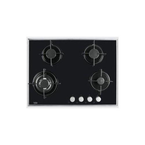 Beko HISW 74221 SX 4 Gözü Gazlı Siyah Cam Ankastre Ocak