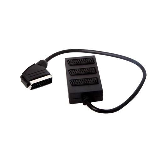 S-Link Sl-Sc30 Scart To 3 Scart Çoklayıcı Kablo