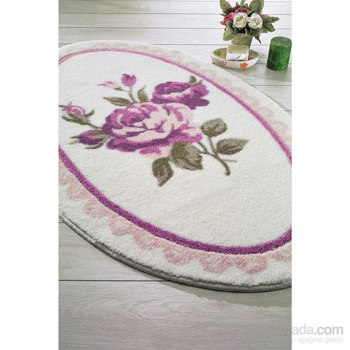 Confetti Rosa 66X107 Pembe Oymalı Banyo Halısı