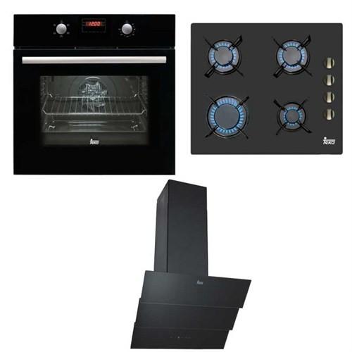 Teka Ankastre Set (HAK 625 N Ankastre Fırın+ HL LUX 60 4G AI AL Ankastre Ocak+ ATV 60.3 Davlumbaz)