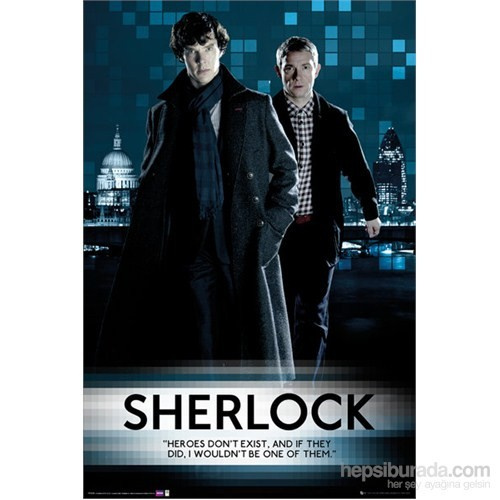 Sherlock Walking Maxi Poster