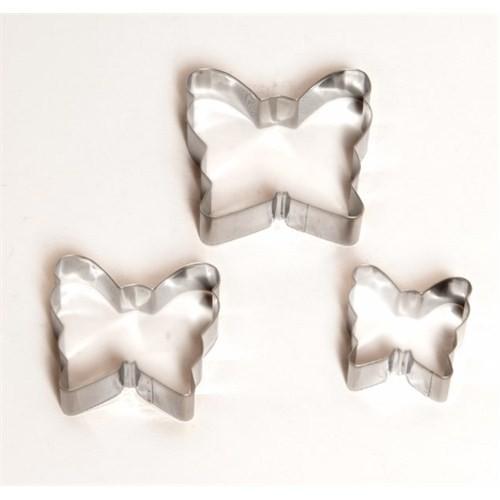Atadan Cute Kelebek Metal 3 lü Bisküvi Kalıbı