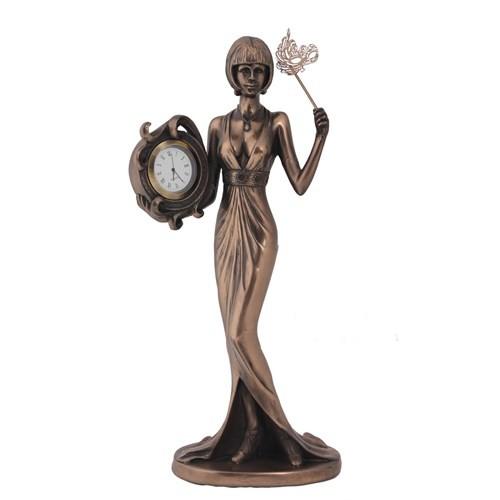 Uzun Elbiseli Kadın Figürlü Saat