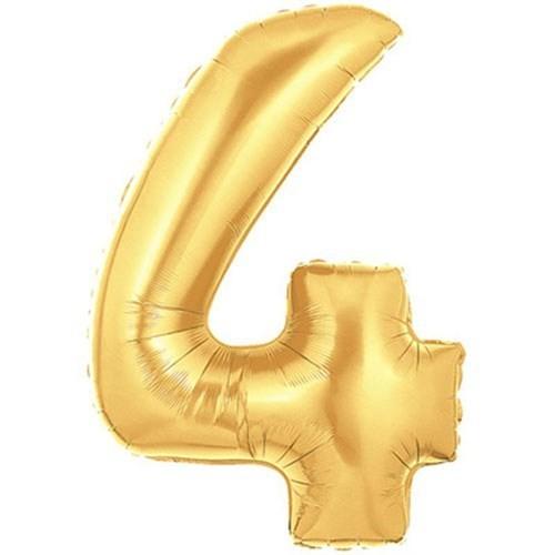 Pandoli 90 Cm Gold Renk Rakamlı Folyo Balon 4 Numara