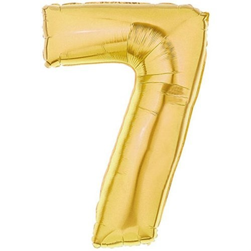 Pandoli 90 Cm Gold Renk Rakamlı Folyo Balon 7 Numara