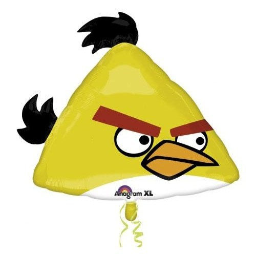 Parti Paketi Angry Birds Yellow Supershape Folyo Balon