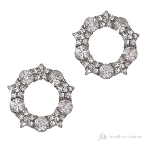 Bigg Barkıel Yuvarlak Taşlı Küpe-Gümüş