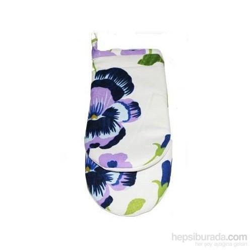 Yastıkminder Lacivert Eflatun Çiçek Mutfak Eldiveni