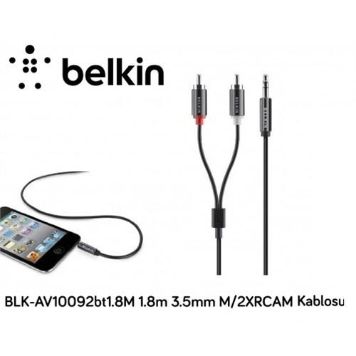 Belkin Blk-Av10092bt1.8M 1.8M 3.5Mm M/2Xrcam Ses Kablosu