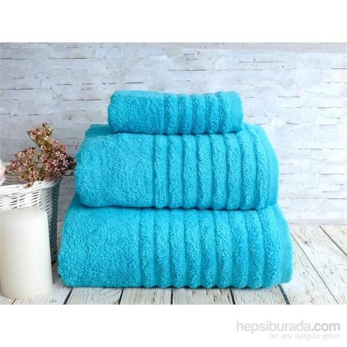 İrya Solid Havlu 85*150 Wella Petrol Mavi
