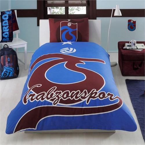 Taç Lisanslı Trabzonspor Parlayan Logo Tek Kişilik Ranforce Nevresim Takımı
