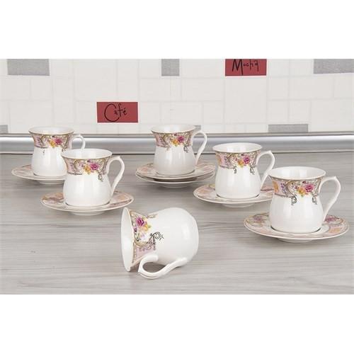 LoveQ Lux Porselen 12 Parça Çay Fincan Seti 149233Y