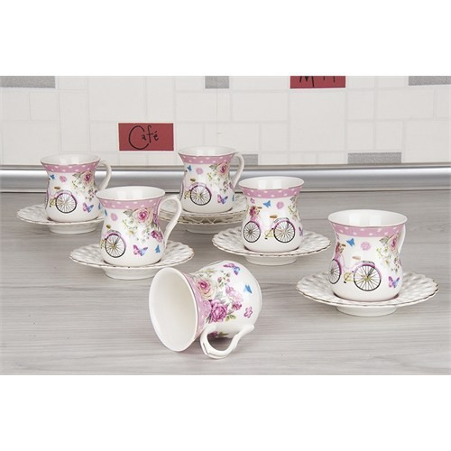 LoveQ Lux Porselen 12 Parça Çay Fincan Seti 149234B